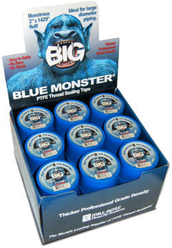 Blue Monster BIG PTFE Thread Seal Tape counter display