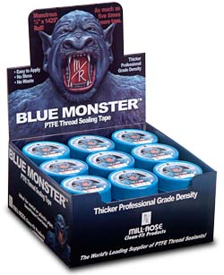 Blue Monster tape display