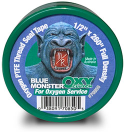 Blue Monster OXY-CLUTCH Green Oxygen PTFE Thread Sealing Tape
