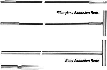 condensor tube extension rods