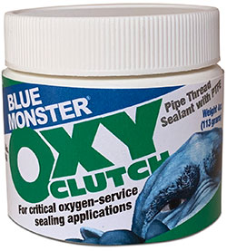 Blue Monster OXY-CLUTCH Thread Sealant for Gaseous and Liquid Oxygen Service