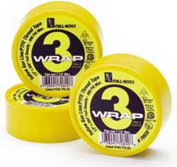 3 Wrap Yellow Gas Thread Seal Tape