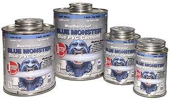 Blue Monster Blue PVC Cement