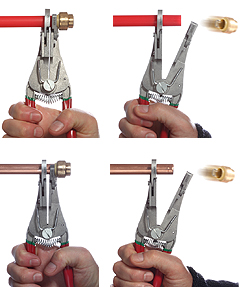 quick-release pliers in action